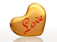 Free Love In Golden Heart Stock Photos - 7722893