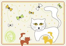 Vector Design With Cat Royalty Free Stock Images
