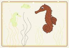 Free Vector Design With Seahorse Royalty Free Stock Photos - 7722938