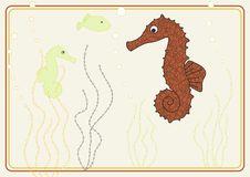 Free Vector Design With Seahorse Royalty Free Stock Photos - 7722938