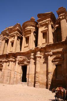 Free Ancient Monastery Of Rock City Petra In Jordan Royalty Free Stock Photos - 7723408