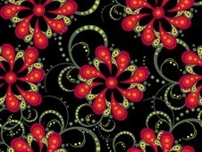 Free Floral Pattern Royalty Free Stock Image - 7724166