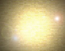 Free Brick Wall And Light Stock Photos - 7724173