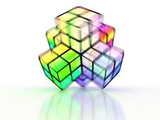 Free 3D Crossed Colorful Structure Stock Images - 7724404