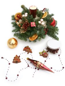 Free Winter Decoration On Table Stock Photography - 7724592