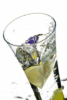 Free Glass With Water And Lime Stock Images - 7725344