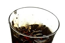 Glass With Cola And Ice Stock Images