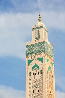 The Mosque Of Hassan II Stock Images