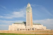 The Mosque Of Hassan II Royalty Free Stock Photo