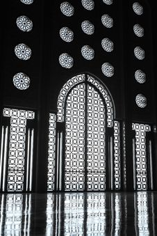 Interiors Of The Mosque Of Hassan II Stock Photos