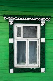 House Window In Russian Village Royalty Free Stock Images