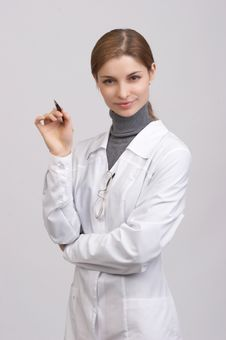 Free Young Beautiful Doctor Stock Photography - 7726722