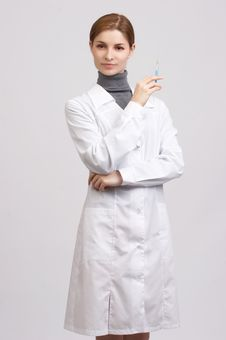 Free Young Beautiful Doctor Stock Photography - 7726732