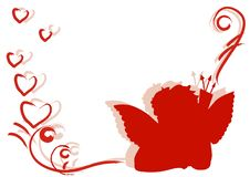 Free Background With Red Cupid Silhouette Stock Photography - 7726782