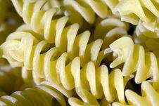 Fusilli - Italian Pasta Stock Photo