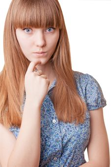 Free Pensive Girl Royalty Free Stock Photography - 7727207