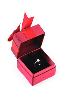 Diamond Ring In The Box Royalty Free Stock Photo