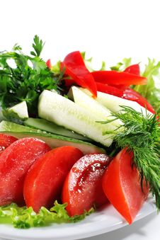Free Fresh Vegetables Plate Royalty Free Stock Photo - 7727935