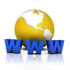 Free Globe Web Royalty Free Stock Image - 7728086