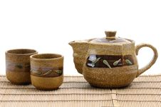 Free Pottery Tea Service Royalty Free Stock Photo - 7728395