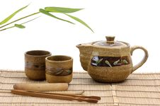 Free Pottery Tea Service Royalty Free Stock Photos - 7728428