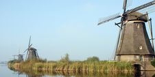 Panorama Of Windmills Stock Photography