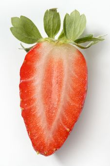 Free Strawberry Macro At Studio White Background Royalty Free Stock Images - 7728529