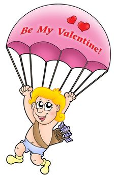Free Pink Parachute Cupid Stock Photography - 7728602