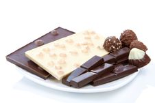 Free Chocolate On Plate Royalty Free Stock Photography - 7728657