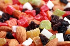 Dried Fruits And Nuts Collection Stock Image