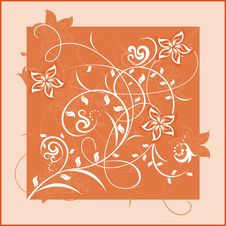 Free Decorative Flowers On Color Background Royalty Free Stock Photography - 7728717