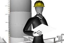 Free Engineer And Manager On Industrial Site Stock Photos - 7728803