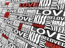 Free The Words Of Love Stock Images - 7728914