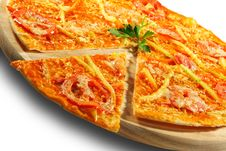 Vegetable Pizza Royalty Free Stock Photo