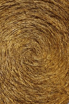 Free Yellow Straw Round Bale, Macro Texture Background Stock Photos - 7729633
