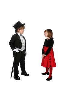 Free Cute Children In Formal Clothing Stock Photo - 7729900