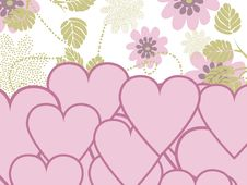 Free Valentines Day Background With Hearts Stock Image - 7729981