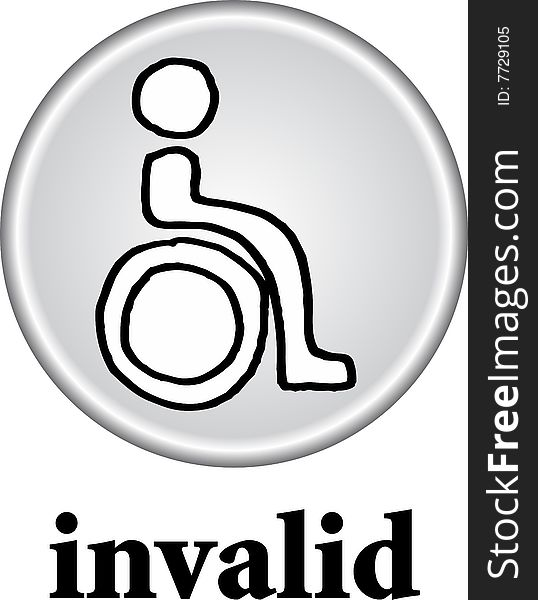 Toilet sign - WC invalid