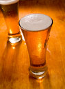 Free Two Beer Glasses, Focus On First Royalty Free Stock Photo - 7733225