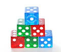 Free Pyramid Of Colorful Dice Royalty Free Stock Photos - 7734058