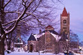 Free Church In A Winter Evening Royalty Free Stock Photo - 7735495