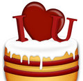 Free Valentines Day Cake Stock Photography - 7735592