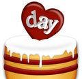 Free Valentines Day Cake Stock Photos - 7735593