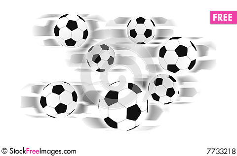 Free Soccer Balls Royalty Free Stock Photos - 7733218