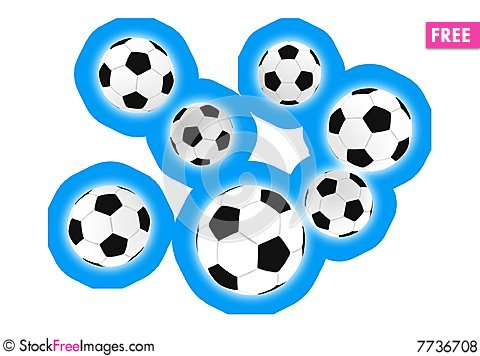 Free Soccer Balls Royalty Free Stock Photos - 7736708