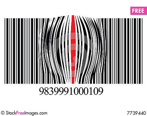Free Zoomed Bar Code Stock Photo - 7739440