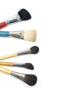 Free Cosmetic Brushes Stock Images - 7730424