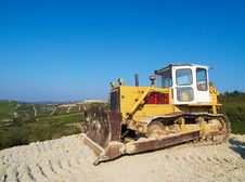 Free Excavator On The Hills Stock Photography - 7730752