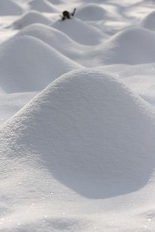 Free Stacks Of Snow In The Field Royalty Free Stock Image - 7730926
