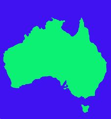 Outline Map Of Australia Stock Image